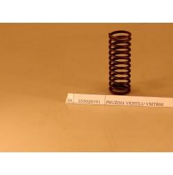 Pružina ventilu vnitřní